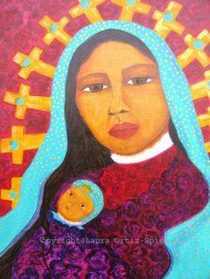 Virgen de Guadalupe painting