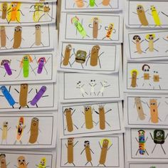 Students write about a time they got hurt (Ouch Stories). Use bandaids as artwork when they publish their stories. Cute!