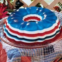 holiday, jello molds, jello recipes, salad recipes, red white blue