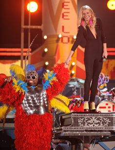 "We pity the fools who missed this performance at the 53rd GRAMMY Awards in 2011. Cee Lo Green, Gwyneth Paltrow and a team of colorful puppets joined for a performance of ""Forget You."" In spite of the song's title, we'll never forget Green and his bird suit"