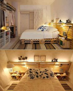 Pallets furniture. I love this look.