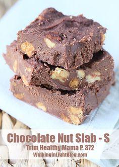 Trim Healthy Mama, Chocolate Nut Slab