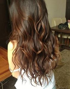 pretty long brown curls<3