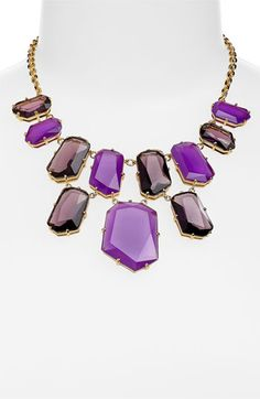 kate spade new york colored stone bib necklace (Nordstrom Exclusive) available at #Nordstrom
