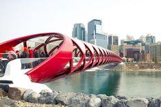 Peace Bridge in Calgary, Canada By Santiago Calatrava