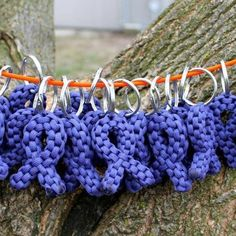 Paracord support ribbon keychains paracord accessories, relay for life crafts, cancer idea, relay idea, fundraising crafts, keychain, life paracord, cancer ribbons, paracord fundrais