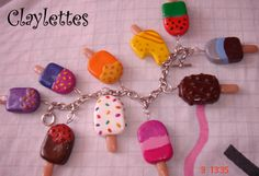 Polymer Clay lucky charms | ... the summer heat with this popsicle charm bracelet from Claylettes