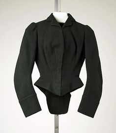 Riding Habit (Jacket): 19th century, British.