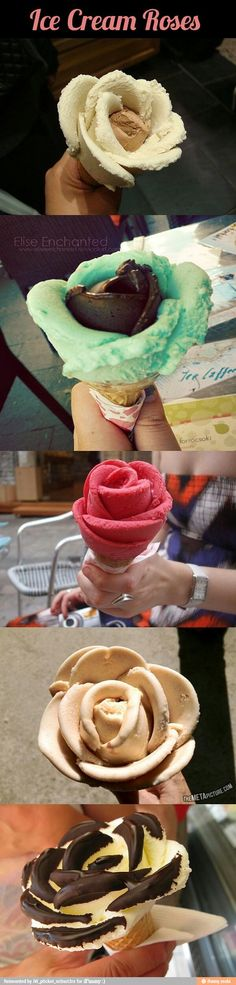 Ice cream roses for Mother's Day / iFunny :)