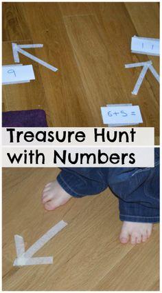 Fun Number Treasure Hunt #Math #Mathgames