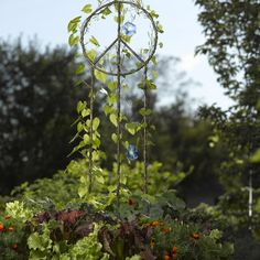 Add floral message to your garden with the Peace Trellis with Gardener's Supply Company