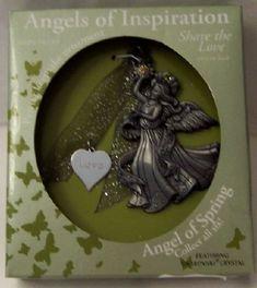 Gloria Duchin Angel Of Spring Love Swarovski Christmas Ornament New In Box $12.99
