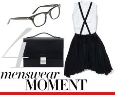 I'm loving this menswear inspired look by Vogue!