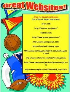Open House Great Websites Handout for Parents and Students (free)