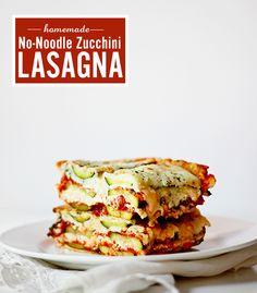 No Noodle Gluten Free Zucchini Lasagna