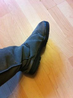 """Super-glued my boot to get more wear out of it"""