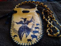 Buffalo Woman Dancing by earthwayspirit on Etsy, $15.00 #medicine #bags #nativeamerican #leather #indian #buffalo