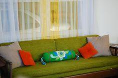 Vintage Green MCM Sofa