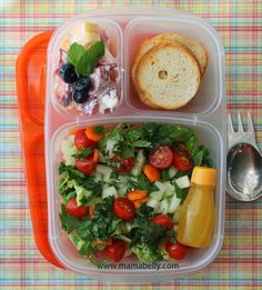Healthy @EasyLunchboxes lunch for work - mamabelly.com