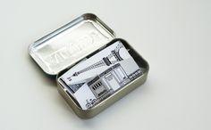 Miniature paper Paris in an Altoids tin - Made by Joel Travel Size Paper City Paris