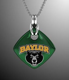 #Baylor Soft Square Bears Pendant