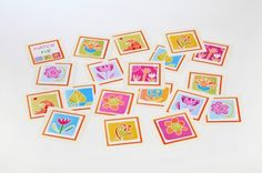Have fun with you kids by creating a memory match game just for them.