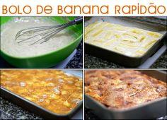 PANELATERAPIA - Blog de Culinária, Gastronomia e Receitas: Bolo de Banana Rapidão