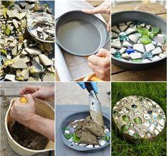 Homemade stepping stones for your garden..