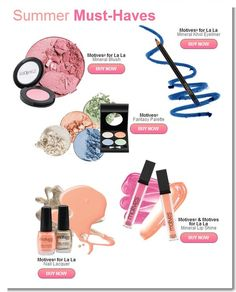 Summer #cosmetics must haves!!!   #Motives Cosmetics. Designed so, every woman, on any budget can have high quality cosmetics at affordable prices.  http://www.shop.com/steveg/summerMustHaves-v+260.xhtml