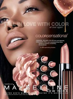 JESSICA WHITE FOR MAYBELLINE NEW YORK COSMETICS ADVERTISEMENT