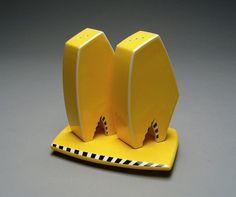 John Glumpler - Contemporary Salt and Pepper Shaker Set in Yellow @John Glumpler