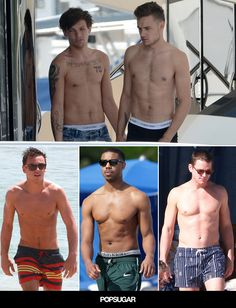 Count the shirtless hotties from age 20 to age 45.