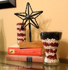 The Money Pit ~ what a great idea...layed beans.  Perfect for Independance Day!