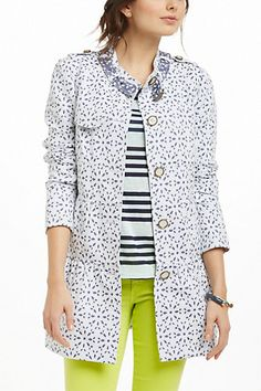 Eyelet Trench #anthropologie