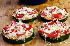 zucchini pizza, pizza slice, foods with no carbs, kalyn kitchen, grill zucchini