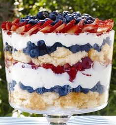 Recipe for Patriotic Berry Trifle - Get this all-star, easy-to-follow Food Network Patriotic Berry Trifle recipe from Sunny Anderson.