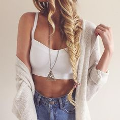 Lovely, thick fishtail braid.