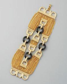 Rachel Zoe Three-Row Chain Bracelet