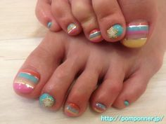 Foot nail art border wearing a star surrounded by studs