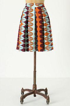 NEED. orange/turquoise/brown silk skirt