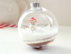 So cute! Hot chocolate mix in a clear glass bulb!
