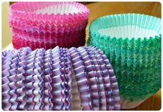 DIY -- Dip Dye Cupcake Liners