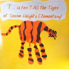 handprint, letter, auburn tigers, hand prints