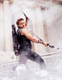 Hawkeye doesn't have to actually SHOOT the arrows for them to be effective - The Avengers