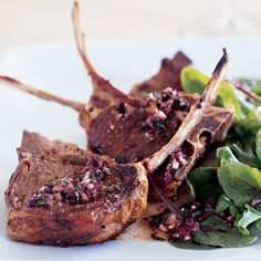 Grilled Lamb Chops with Provençal Dressing. 12 recipes for fast lamb meals