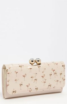 ted baker flamingo print wallet