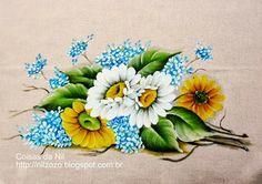 Coisas da Nil - Pintura em tecido: Umas margaridas...