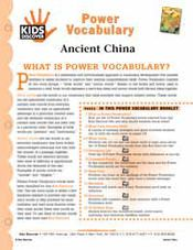 FREE 16-page Downloadable Vocabulary Packet for Kids Discover Ancient China!