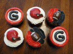 Georgia Bulldog Cupcakes