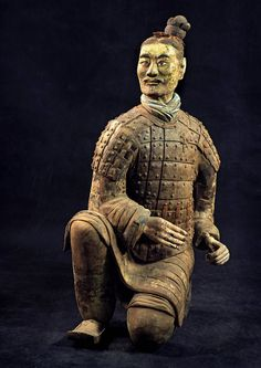 Life-sized figure from the Chinese Terracotta Army, 210 BC